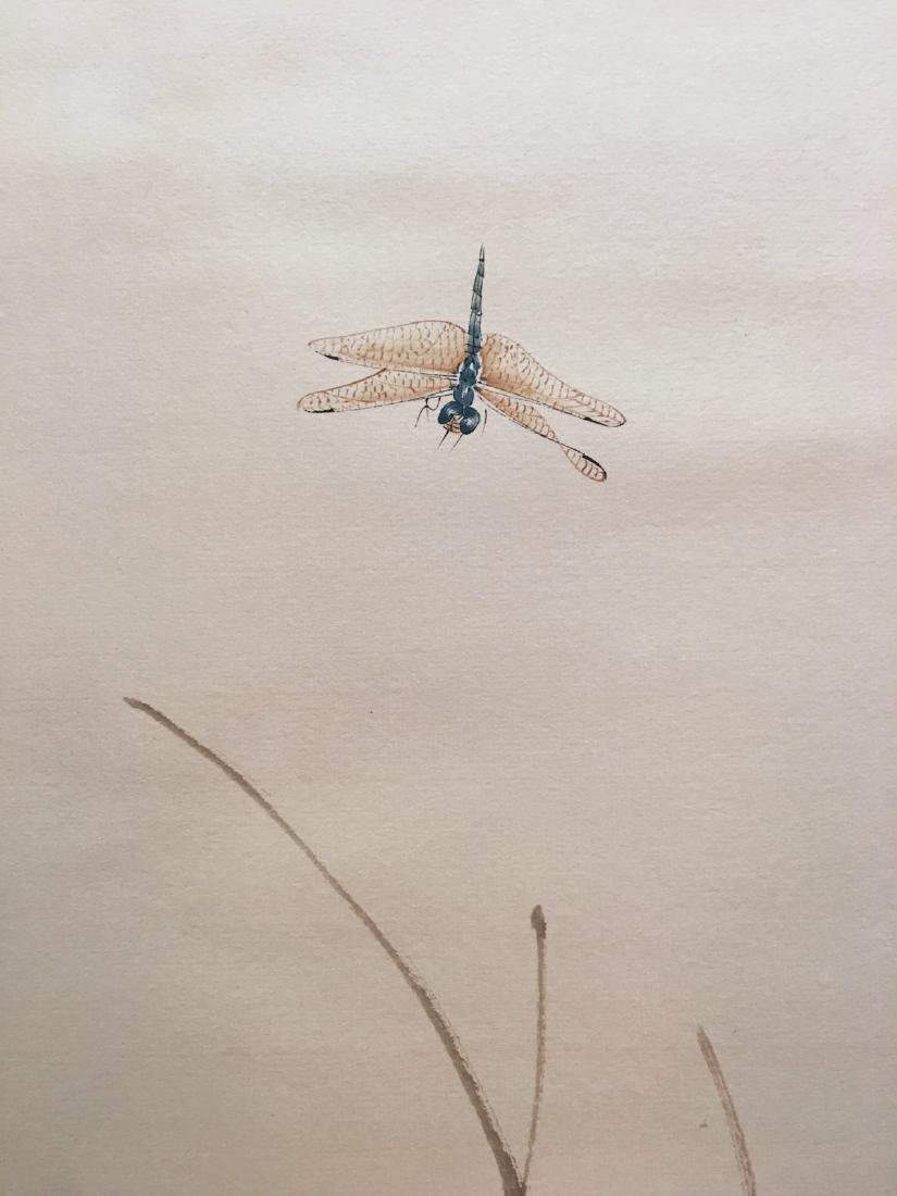 Chinese Hanging Scroll Of Grass And Insect - 6