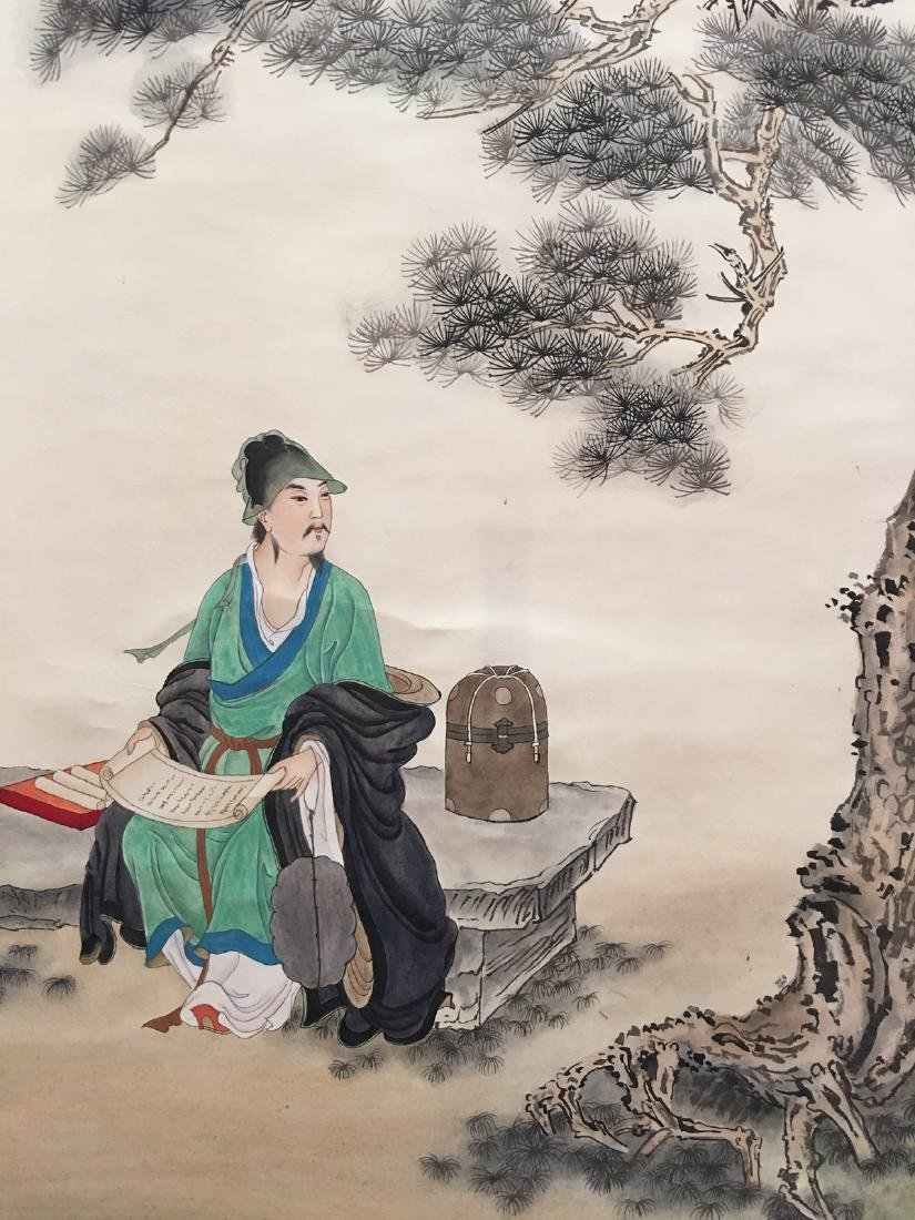 Chinese Hanging Scroll Of Figures - 2