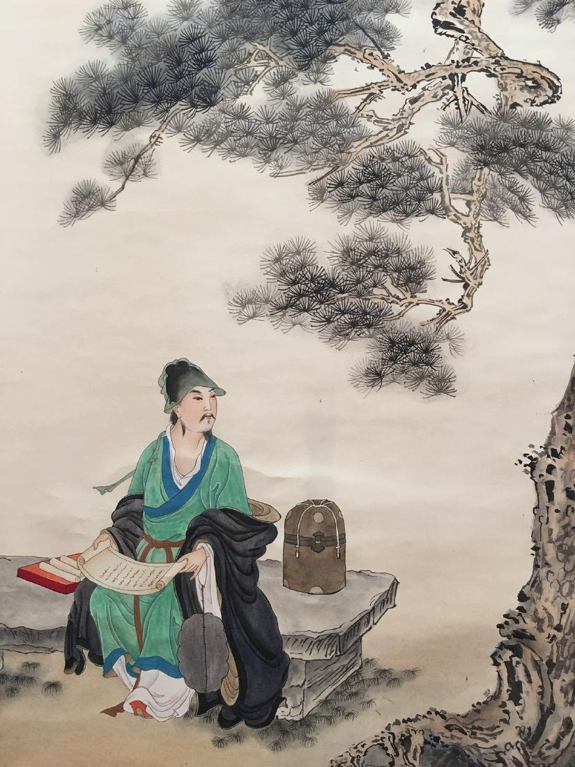 Chinese Hanging Scroll Of Figures - 5
