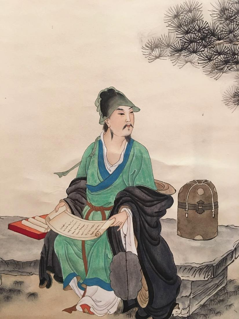 Chinese Hanging Scroll Of Figures - 7