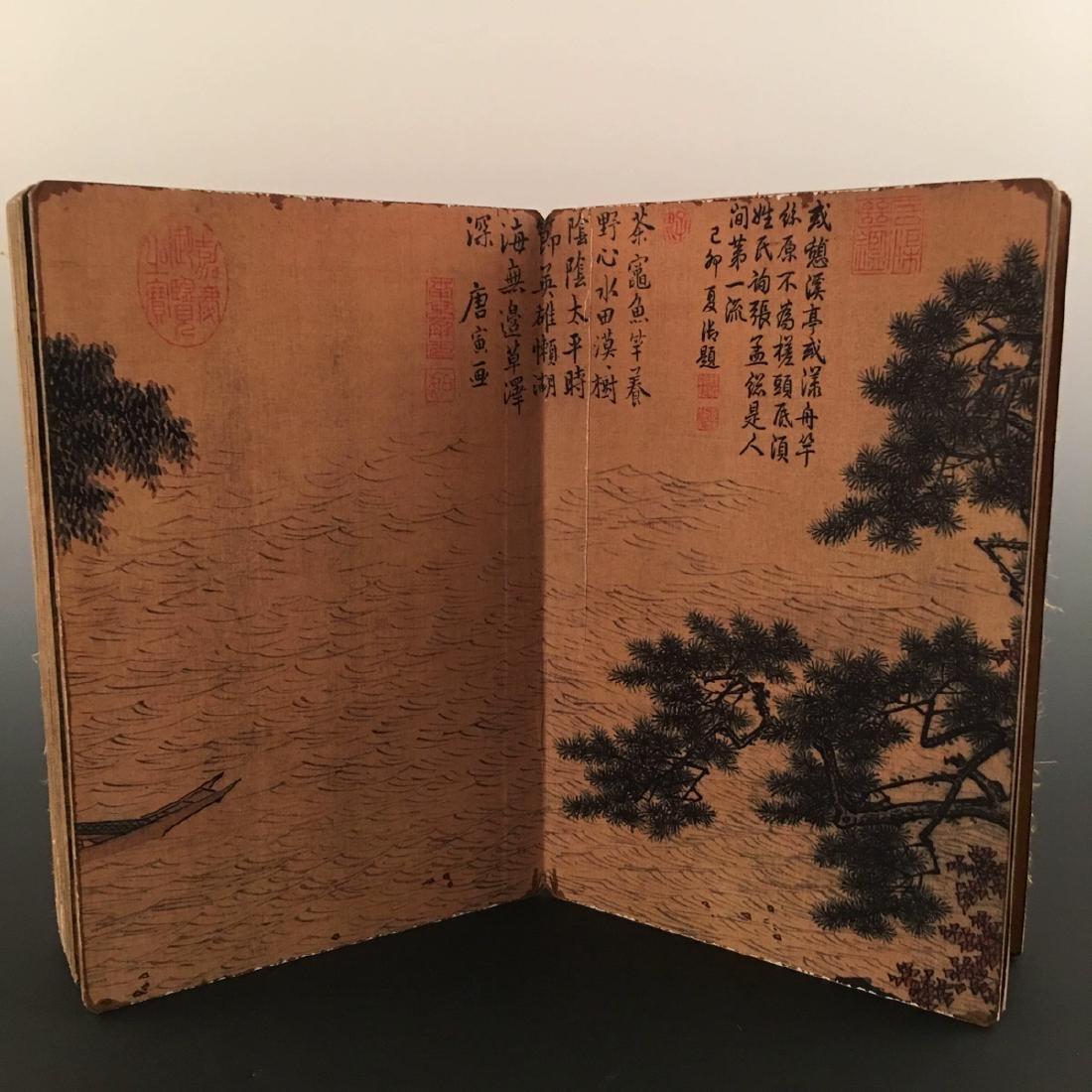 """Chinese Folding Album of Painting Of """"Xi Shan Yu Yin"""" - 4"""