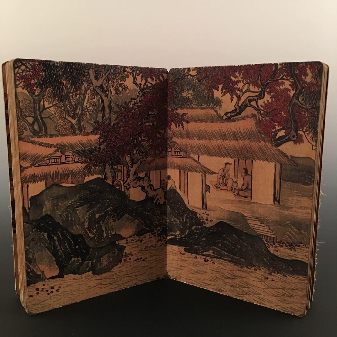 """Chinese Folding Album of Painting Of """"Xi Shan Yu Yin"""" - 6"""