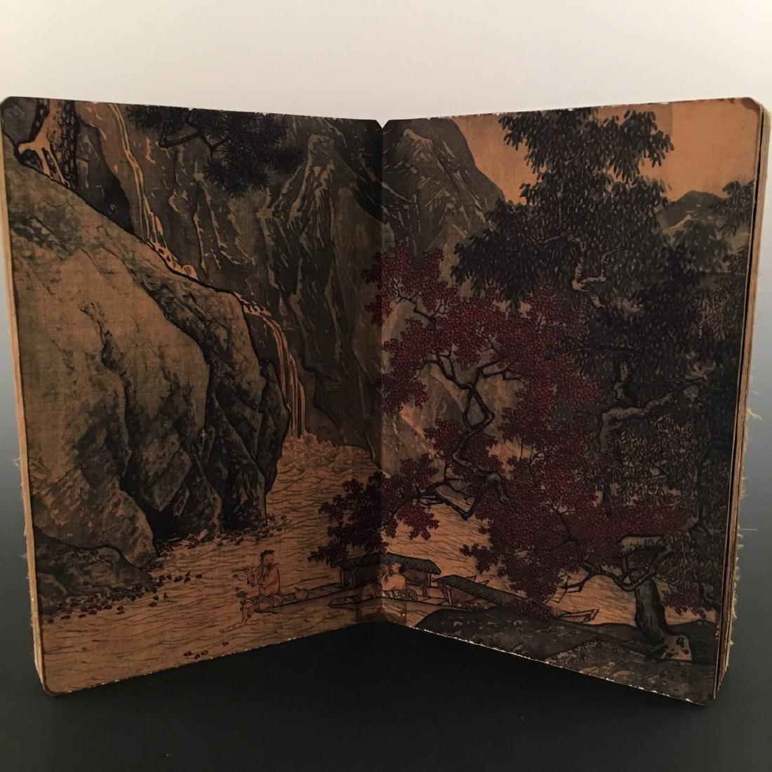 """Chinese Folding Album of Painting Of """"Xi Shan Yu Yin"""" - 7"""