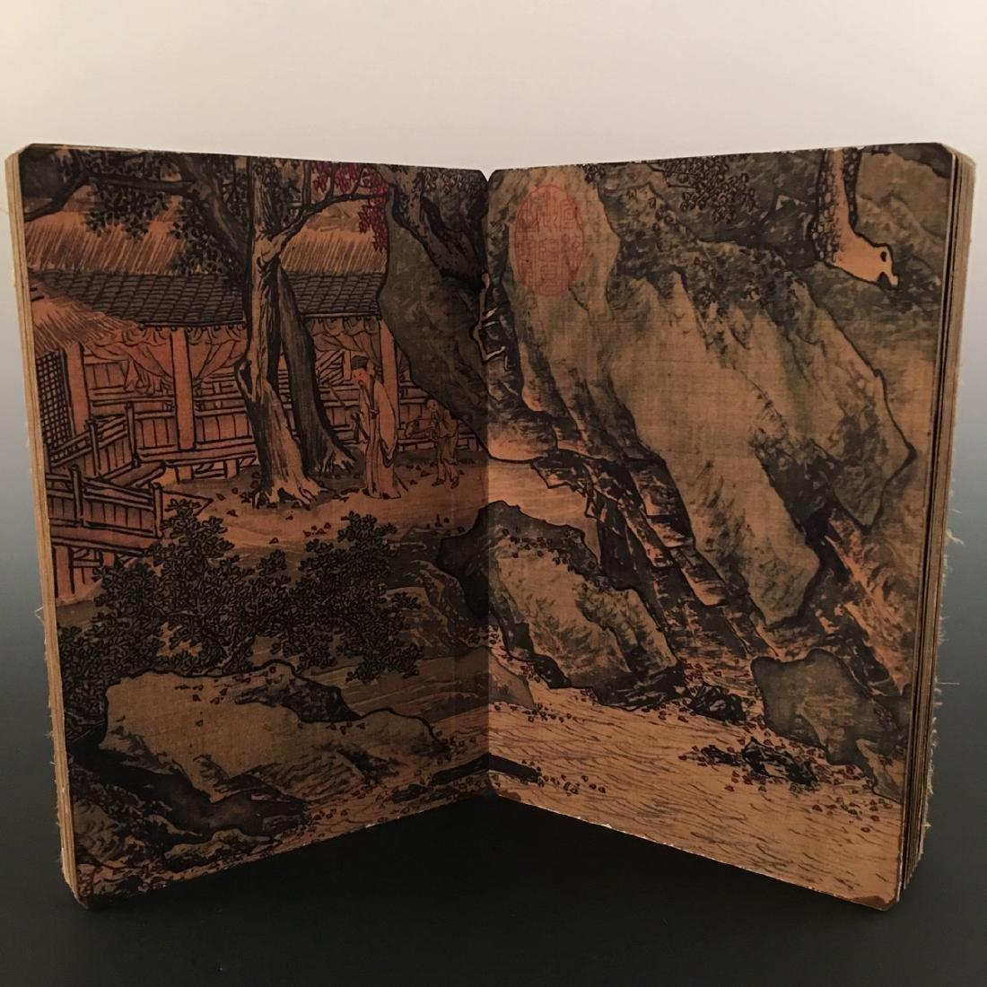 """Chinese Folding Album of Painting Of """"Xi Shan Yu Yin"""" - 8"""