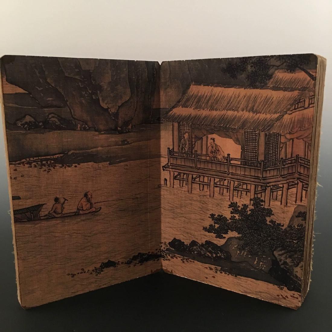 """Chinese Folding Album of Painting Of """"Xi Shan Yu Yin"""" - 9"""