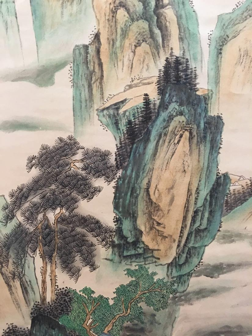 Chinese Hanging Scroll Landscape With Huang Shan - 4