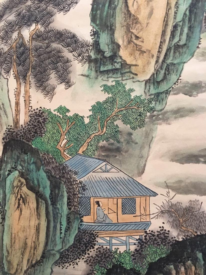 Chinese Hanging Scroll Landscape With Huang Shan - 5