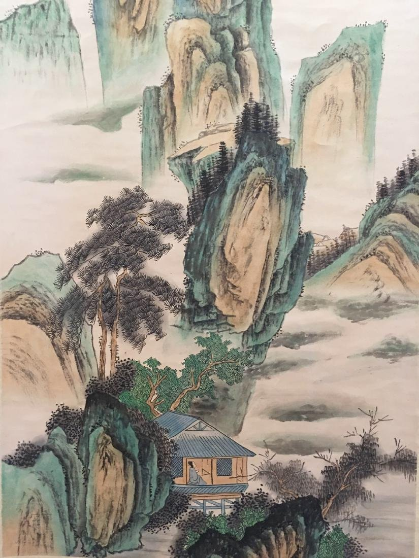 Chinese Hanging Scroll Landscape With Huang Shan - 8