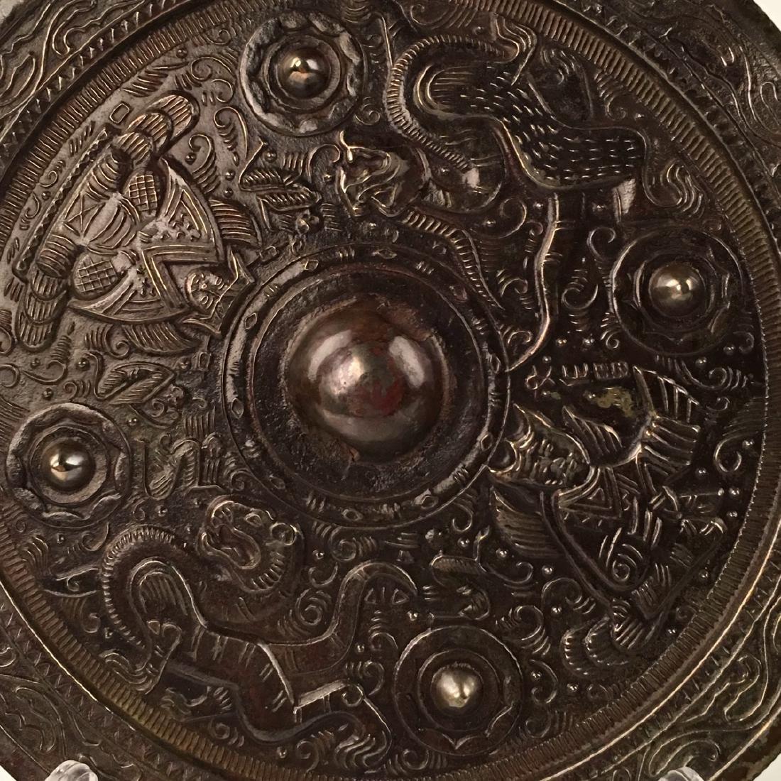 Chinese Bronze Round Mirror - 2