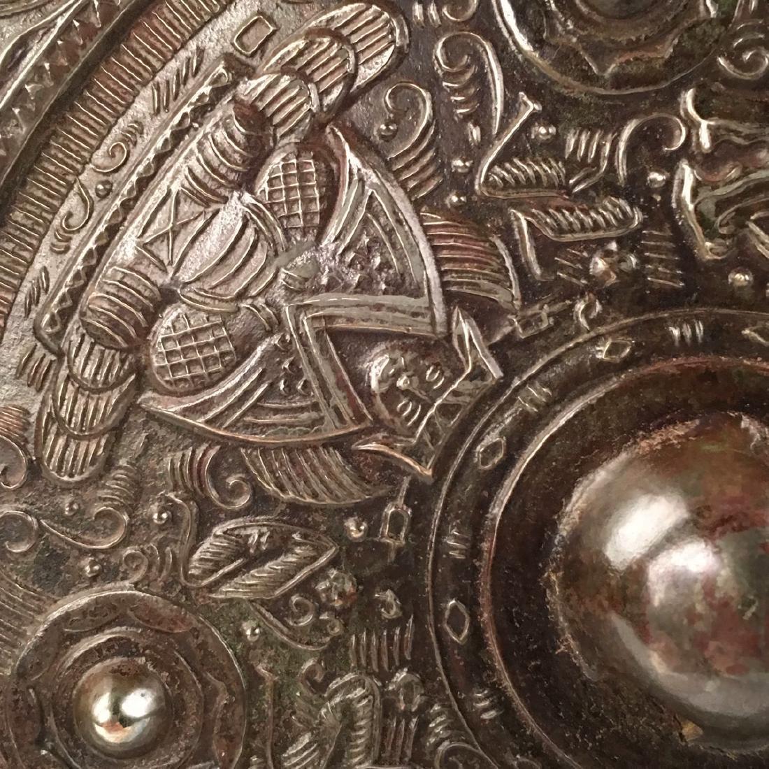 Chinese Bronze Round Mirror - 4