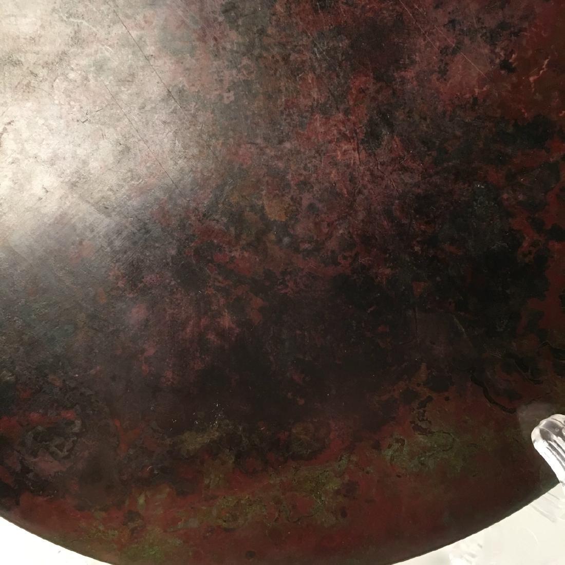 Chinese Bronze Round Mirror - 7