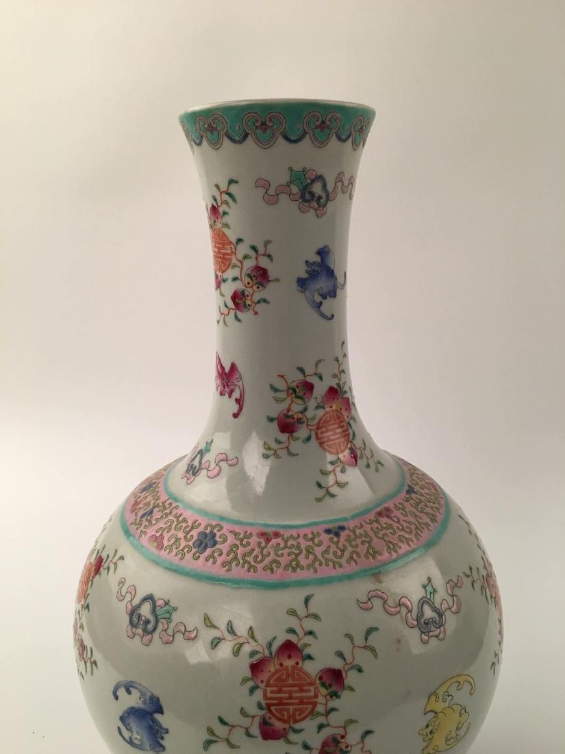 Chinese Famille Rose Globular Vase - 2