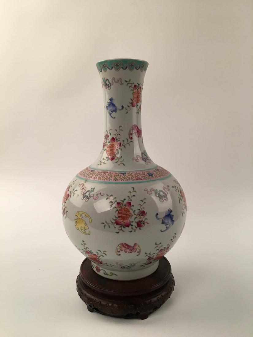 Chinese Famille Rose Globular Vase - 3