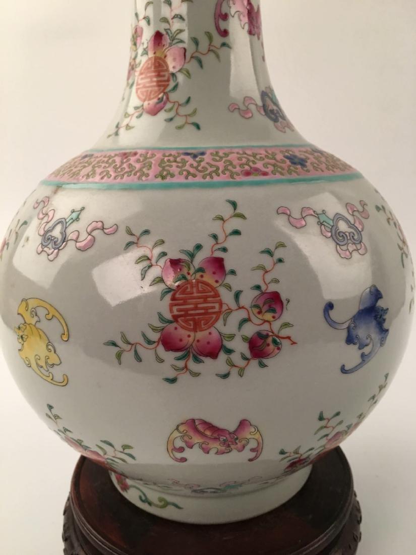 Chinese Famille Rose Globular Vase - 4