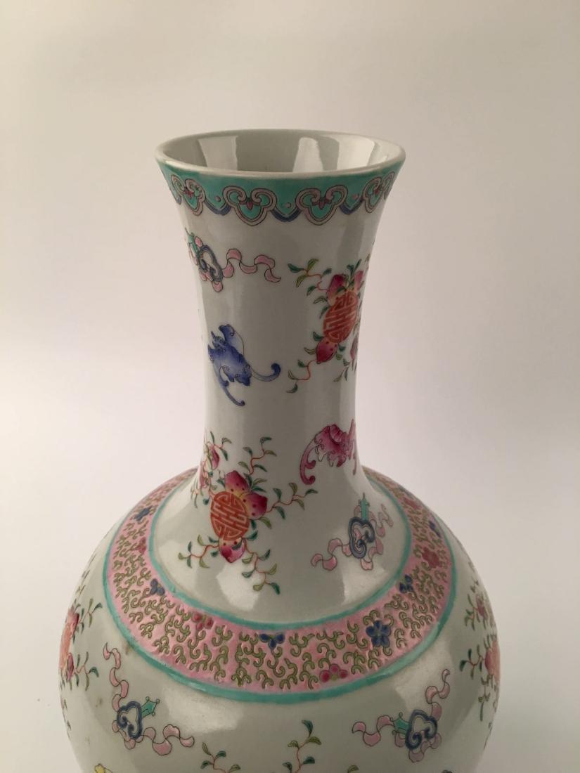 Chinese Famille Rose Globular Vase - 5