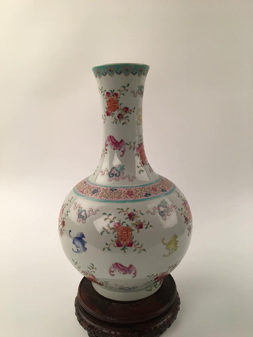Chinese Famille Rose Globular Vase - 6