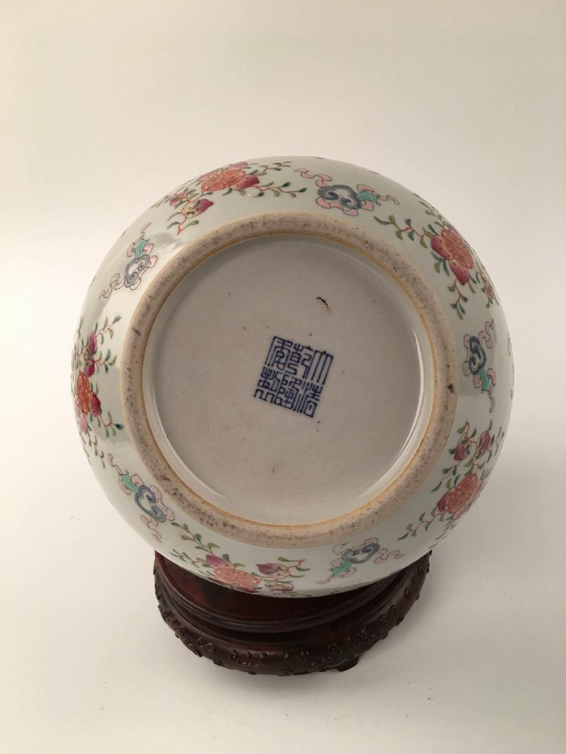 Chinese Famille Rose Globular Vase - 7