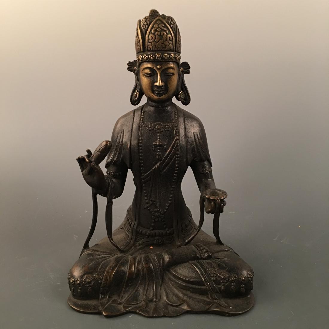 Chinese Bronze Figure Statue