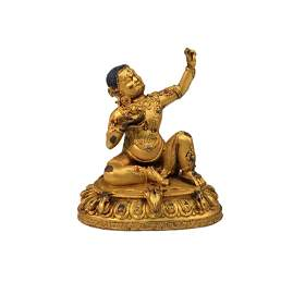 Chinese Gilded-Gold Bronze Buddhist Statue