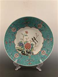 Chinese Famille Rose Flower Dish