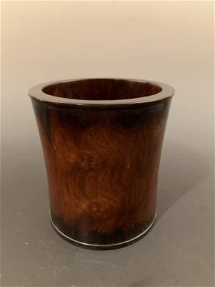 Chinese Hua-Li Wood Brushpot
