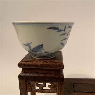 Chinese Ming Blue and White Cup