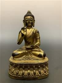 Chinese Tibet Ming Dynasty Bronze Buddha