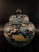 Chinese Ming Enamel Porcelain Jar