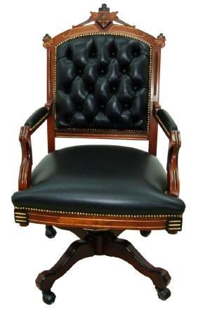 2338 American Renaissance Revival Swivel Chair