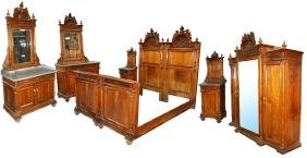 3464 Antique 19th C. European 7-Piece Bedroom Suite