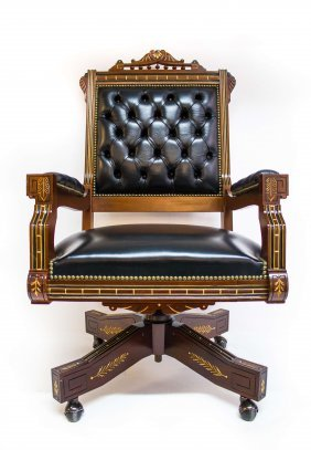 3693 Renaissance Revival Armed Swivel Chair