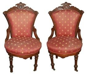 5161 Pair of Eastlake Victorian Side Chairs circa 1880