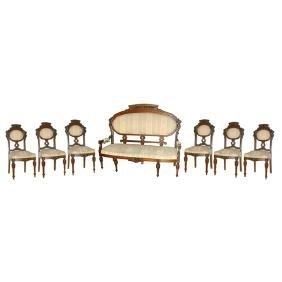 5458 7-Piece Renaissance Revival Parlor Set c. 1880