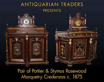 7809 Pair of Pottier & Stymus Rosewood Credenzas