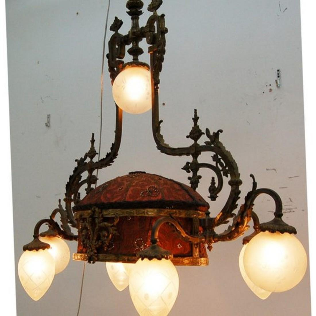 Antique 19th C. French Rococo Chandelier - 2