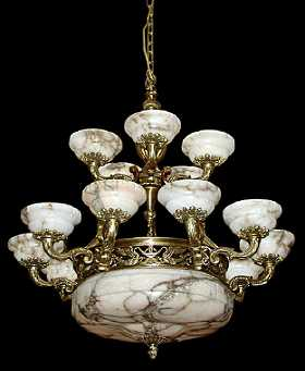 Vintage alabaster chandeliers for sale antique alabaster chandeliers antique french bronze alabaster chandelier aloadofball Image collections