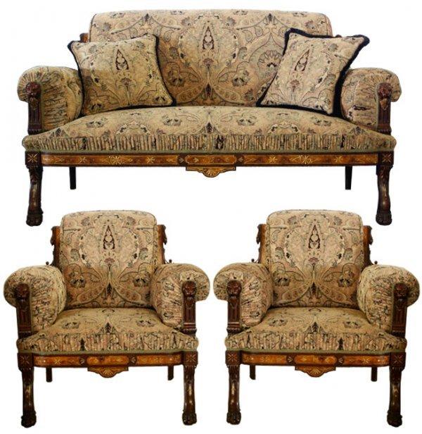 5: 5266 3-Pc. American Victorian Parlour Set c. 1885