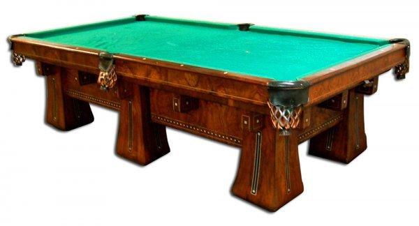 "16: 7159 Antique Brunswick Six-Legged ""Kling"" Table"