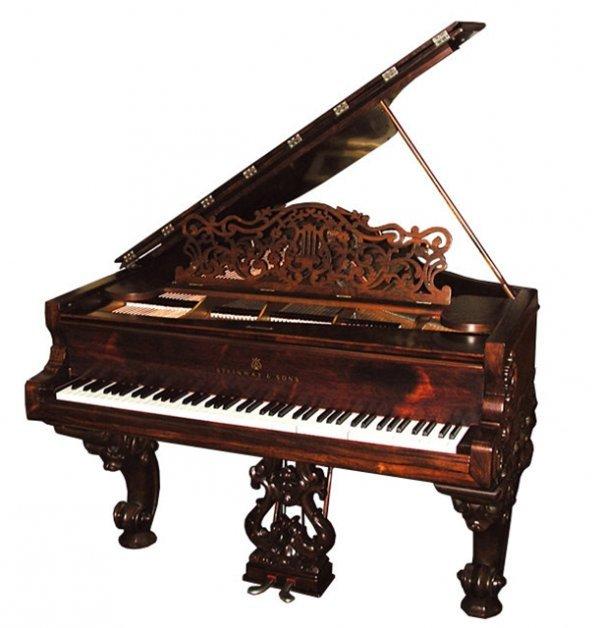 17: 7124 Antique Steinway Model B Grand Piano