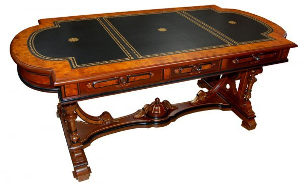 21: 6752 Thomas  Brooks Victorian Library Table