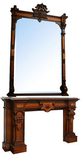 1012: 72.5709 Fabulous Antique Renaissance Revival Mant