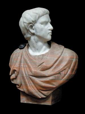 1017: 70.4245 Solid Marble Busts of Various Roman Emper