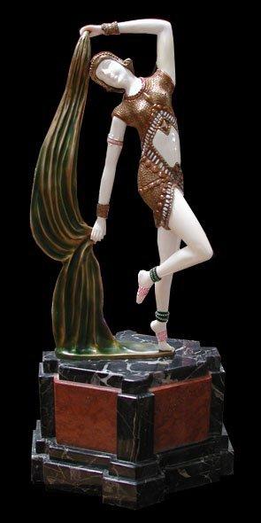 """1022: 6386 Art Deco Sculpture """"Yambo"""" by Demetre Chipar"""