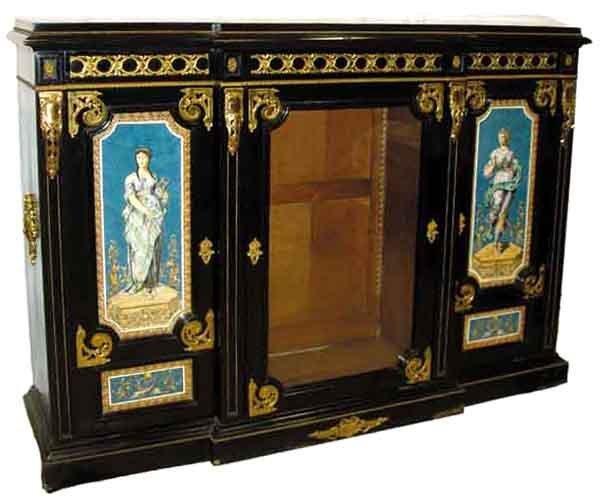 1065: 6447 NYC Bronze Mounted 3-Door Credenza Cabinet