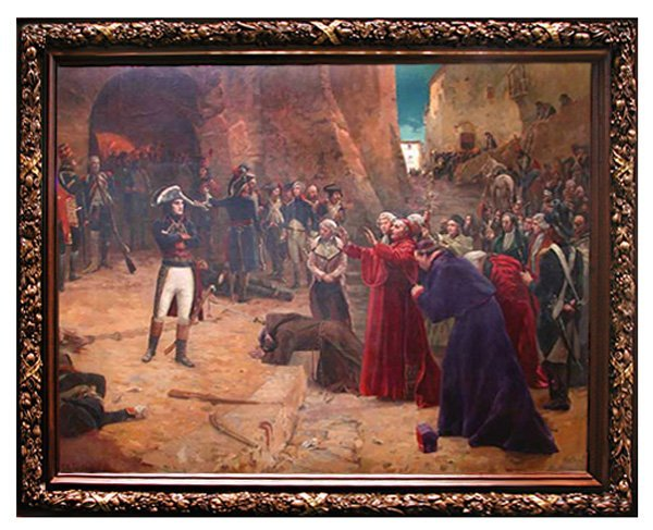 1194: 19th C. Napoleon Painting:  The Revolt at Pavia