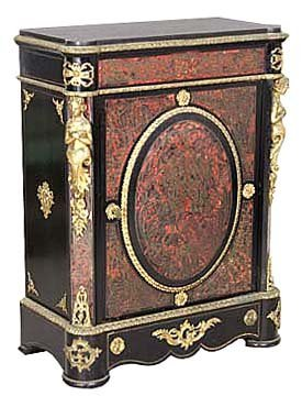 2012: 6330 Antique Red Boulle Empire Style Cabinet