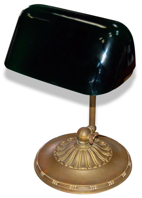 2015: Antique Emeralite Banker's Desk Lamp