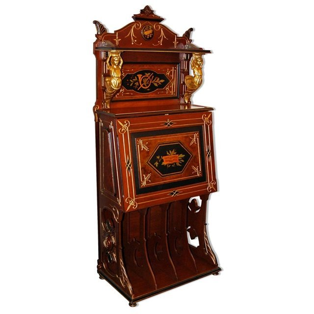 2017: 6788 Inlaid Renaissance Music Cabinet with Figura