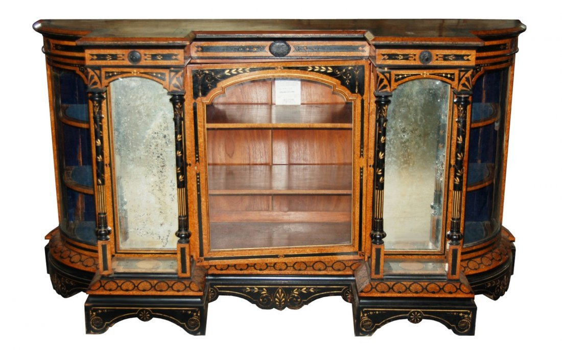 2019: 7387 American Three-Door Inlaid Credenza c. 1860
