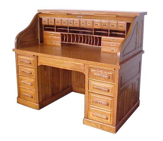 1136 Antique 19th C. American Oak Rolltop Desk